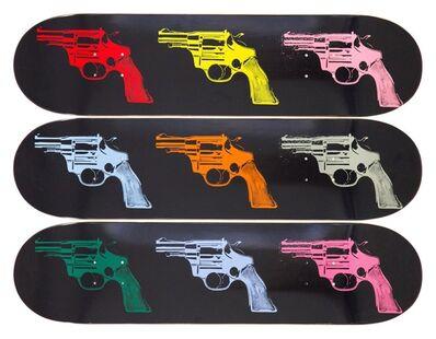 Andy Warhol, 'Guns (Limited Edition Skateboard Triptych)', 2015