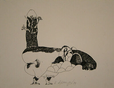 Laxma Goud, 'Untitled (Female Cow Hybrid)', 1974