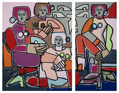 America Martin, 'Women & Shoes Diptych'