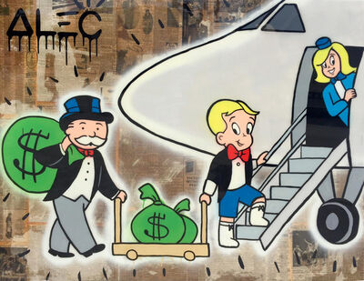 Alec Monopoly, 'Richie Monops PJ with Stewardess', 2017