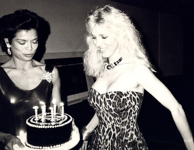 Andy Warhol, 'Andy Warhol, Photograph of Bianca Jagger with cake on Alana Stewart's Birthday, 1985', 1985