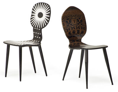 Piero Fornasetti, 'Two chairs, Italy', 2000s