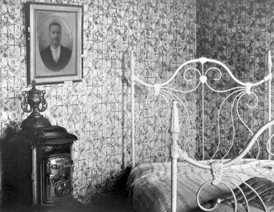 Walker Evans, 'Bed and Stove, Truro, Massachusetts', 1936