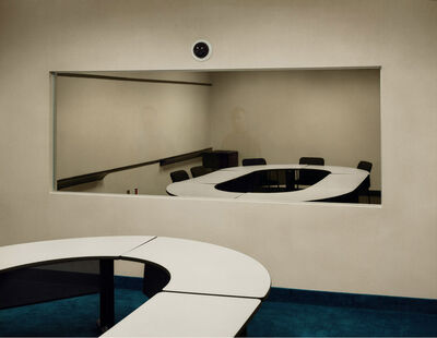 Taryn Simon, 'Jury Simulation, Deliberation Room with Two-Way Mirror DOAR Litigation Consulting Lynbrook, New York', 2006-2007