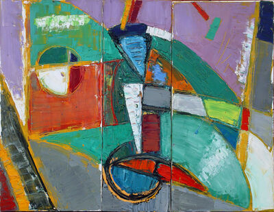 Marcel Kahhak, 'Abstract/Cycling Triptych', 2001