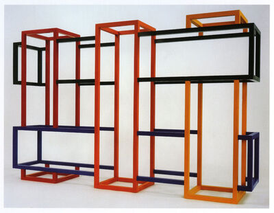 Richard Anuszkiewicz, 'Translumina – Opaque Rectangle: Oranges, Red, Green and Blue', 1990