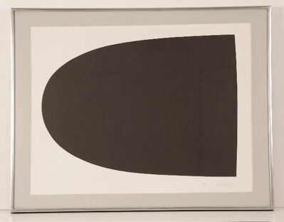 Ellsworth Kelly, 'Black Form (from Portfolio 9)', 1967