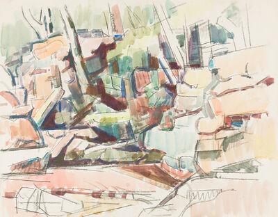 Herbert Barnett, 'Rocks and Trees, East Princeton [East Princeton, MA] '