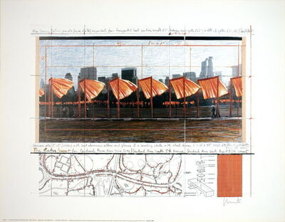 Christo, 'The Gates Project, X, New York (signed)', 2003