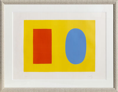 Ellsworth Kelly, 'Orange and Blue over Yellow', 1965