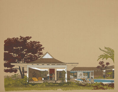 Carlos Diniz, 'Monarch Bay Homes, Backyard with Pool', 1961