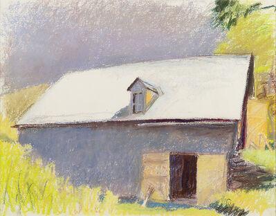 Wolf Kahn, 'GRAY BARN, SUNLIGHT ON ROOF', 1985
