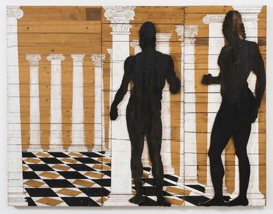 Mario Ceroli, 'I bronzi di Riace (Interno tempio)', 1981