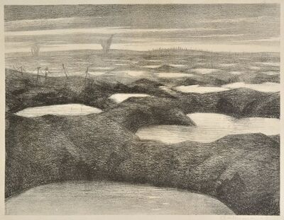 Christopher Richard Wynne Nevinson, 'After a Push', 1918
