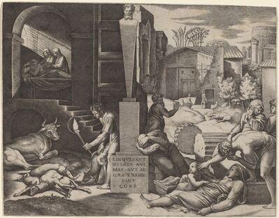 Marcantonio Raimondi after Raphael, 'The Plague'