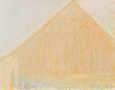 Wolf Kahn, 'BARN HEAD ON (STUDY)', 1972