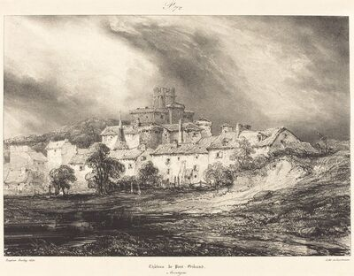 Eugène Isabey, 'Château de Pont-Gibaud'