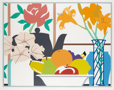 Tom Wesselmann, 'Still Life with Petunias, Lilies and Fruit ', 1988