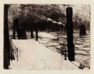 Emil Nolde, 'Hamburg, Landungsbrücke', 1910