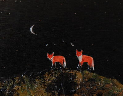 Ashley Anne Clark, 'Two Foxes Playing with Butterflies', 2018