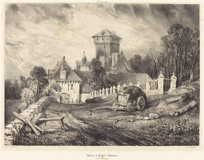 Eugène Isabey, 'Château de Pesteil à Polminhac', 1832