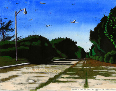 Cole Case, 'Abandoned La Tijera Boulevard 11.19.15 Looking 235 Degrees SW', 2015