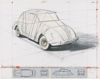 Christo and Jeanne-Claude, 'Wrapped Volkswagen (Project for  1961 Volkswagen Beetle Saloon)', 2013