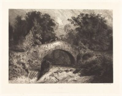 Paul Huet, 'A Bridge in Auvergne (Un pont en Auvergne)', 1834