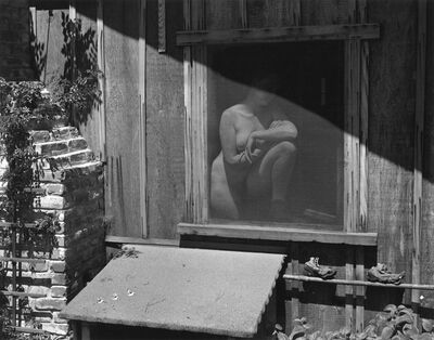 Edward Weston, 'Nude Behind Screen (Charis)', 1943