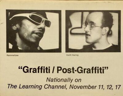 Keith Haring, 'Basquiat, Keith Haring 1980s graffiti announcement (Graffiti/Post Graffiti) ', 1984