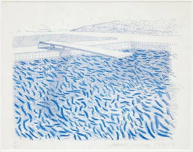 David Hockney, 'Lithographic Water Made of Lines and Crayon', 1978