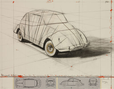 Christo, 'Wrapped Volkswagen (Project for 1961 Volkswagen) ', 2013