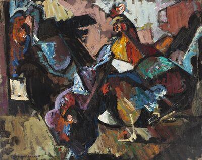 Herbert Barnett, 'Hens, No. 2', 1947