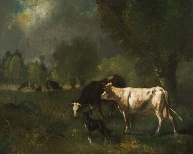 Constant Troyon, 'Cattle In Pasture', 19th century