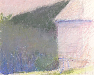 Wolf Kahn, 'LOOKING DOWN FROM THE BARN', 1976