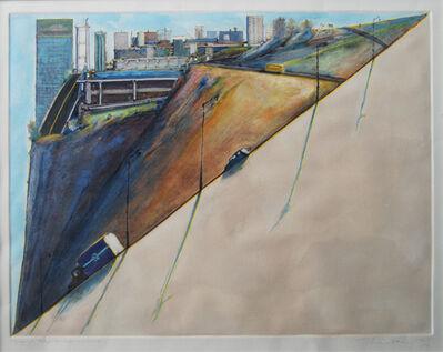 Wayne Thiebaud, 'Diagonal Ridge', 1978-1989