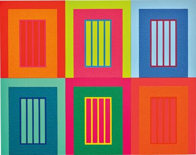 Peter Halley, 'Six Prisons', 2009