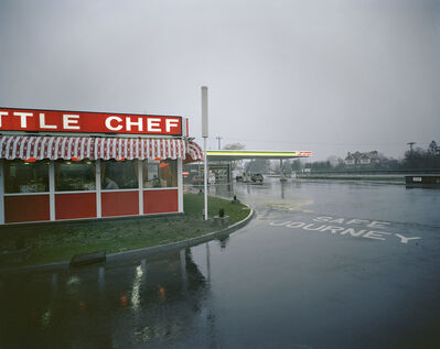 Paul Graham, 'Little Chef in Rain St Neots, Cambridgeshire, May 1982, from the series A1 - The Great North Road', 1982