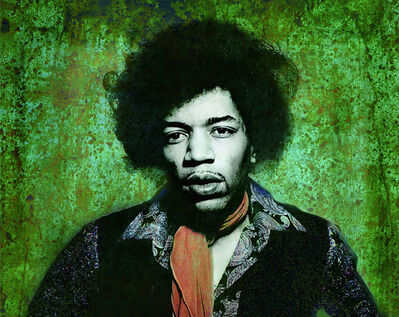 Gered Mankowitz, 'Jimi Hendrix Colorized'