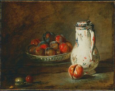 Jean-Siméon Chardin, 'A Bowl of Plums', ca. 1728