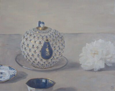 Olga Antonova, 'Composition with Russian teapot and flower', 2019