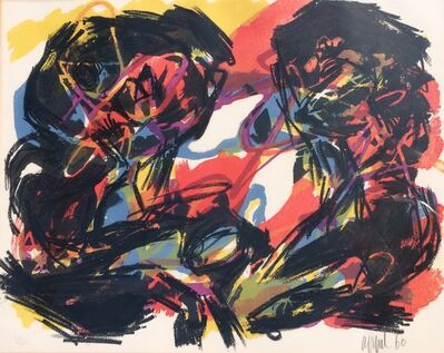 Karel Appel, 'Abstract lithograph pencil signed 41/200', 1960