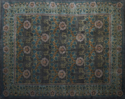 Style Of William Morris, 'Contemporary Donegal style room-sized wool rug'