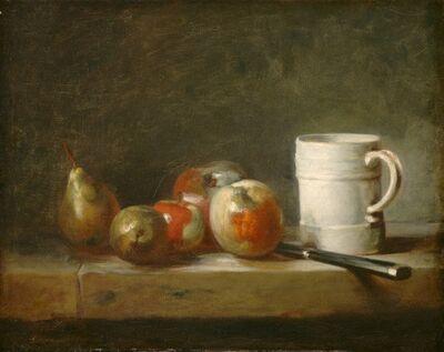 Jean-Siméon Chardin, 'Still Life with a White Mug', ca. 1764