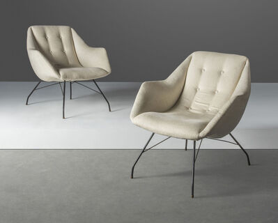 Carlo Hauner, 'A pair of 'Shell' lounge chairs', designed 1950