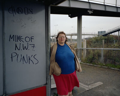Paul Graham, 'Woman at Bus Stop, Mill Hill, North London, November from the series A1', 1982