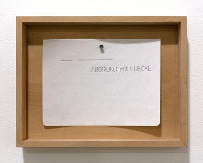 Margarethe Drexel, 'ABGRUND mit LUECKE  (ABYSS with GAP)', 2015