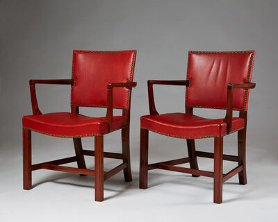 "Kaare Klint, 'Set of two armchairs ""The Red Chair""', 1930"