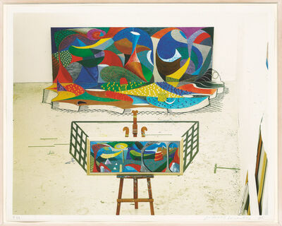 David Hockney, 'Snails Space: The Studio March 28th 1995', 1995