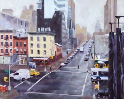 Ellen Bradshaw, 'First Snow, 10th Ave & 18th St', 2014